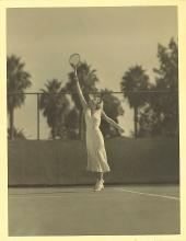 EXQUISITE DECO JEAN HARLOW PLAYING TENNIS