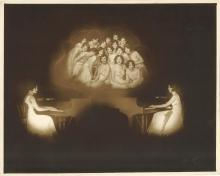 GRACEFUL DREAMY ZIEGFELD FOLLIES STARLETS PLAYING PIANO SHOT BY