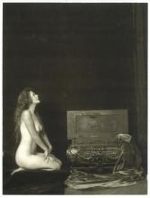 MESMERISING DECO NUDE ZIEGFELD TREASURE CHEST