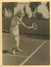 AUTHENTIC JEAN HARLOW ON THE TENNIS COURT SHOT BY