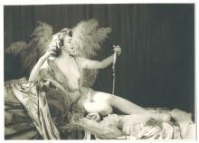 PROVOCATIVE TEMPRESS MONA MOREY ORIGINAL ALFRED CHENEY JOHNSTON DECO NUDE ZIEGFELD SILVER GELATIN PHOTOGRAPH