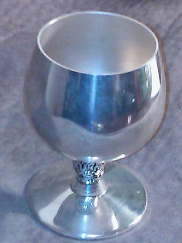 VTG Plator Made in Spain Silver Plated Wine (or Sorbet) Goblet/Chalice/Cup Grape Vine Stem