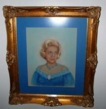 Original Pastel of Actress Alice Faye