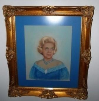 Original Pastel of Actress Alice Faye