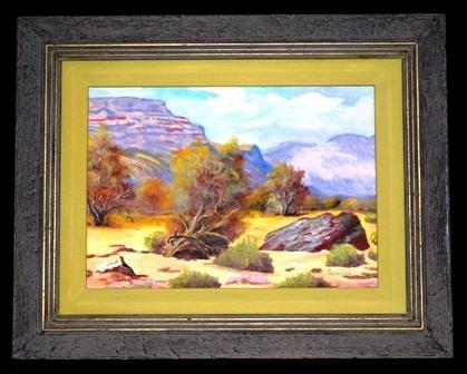 Original  Oil Painting Desert Landscape