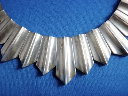 Vintage Necklace Antonio Pineda & Los Costillo Double Signed ULTRA RARE 500 grams Taxco Mexico