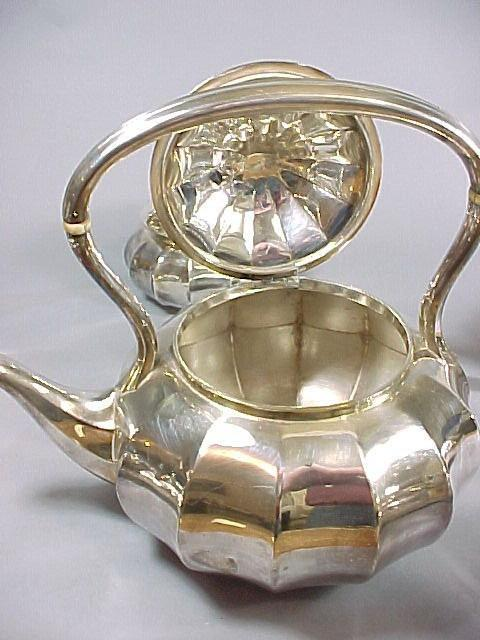 Rare Set of Six (6) Tiffany & Co Art Nouveau 1907 Silver Tea and Coffee Service Set Melon Form