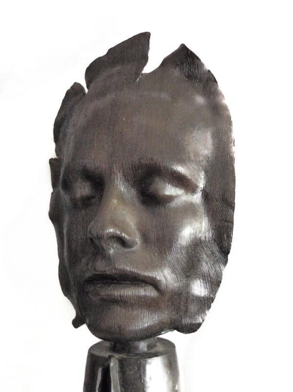 Dale Dunning Bronze Life Face Mask 3/7 1984 Listed Artist