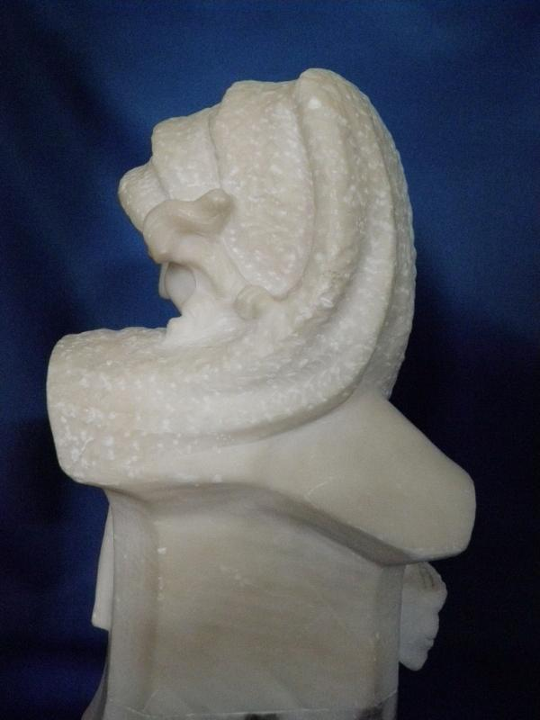 Art Deco Flapper Lady Italian Marble Sculpture c. 1920's Sg'd