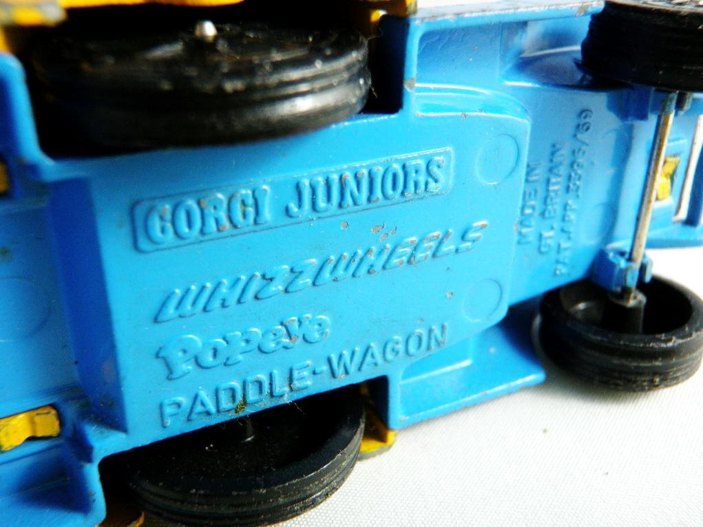 1969 Corgi Popeye Paddle Wagon Juniors Whizz Wheels Car Pat. Pend. Made in Great Britain