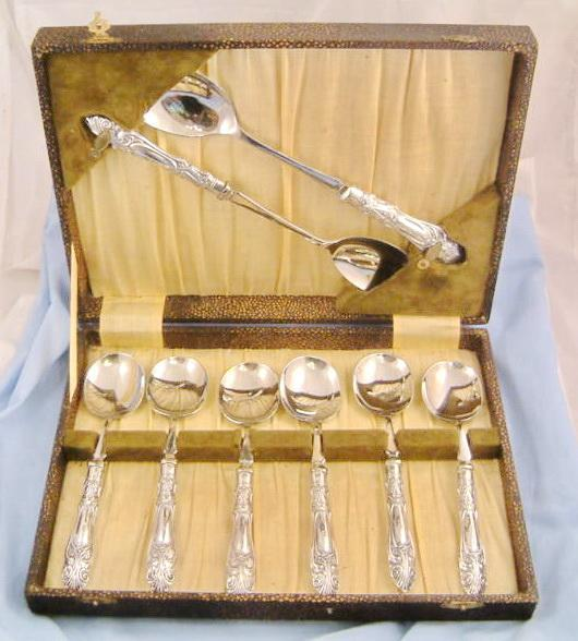 Serving Set Art Deco Sterling Dessert Set w/ Serving Pieces V. B. Vickers & Co
