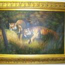 TIGERS in the Jungle Oil Painting-free shipping with shipping insurance