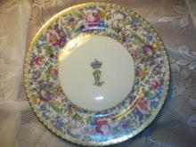 King Faourk's Sevres Palace Dinner Plate - Sold by Southeby's