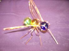 Copper Wire Sculpture Insect...Fly..Mosquito- 7