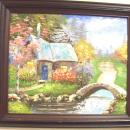 Oil Painting - Blunt Brush & Spatula Technique Signed, Framed Painting *Free Shipping