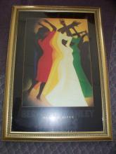 Jamaican American BERNARD S. HOYES Framed Poster Art Print 41