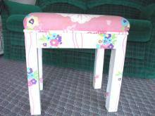 Girls FULL SIZE Vanity Bench BARBIE Upholstered *RARE VTG Collectible *Free Shipping