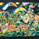 Black American Artist Barbara Wallace Calendar Print of Jungle Wild Life *free shipping