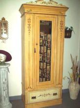 VERY RARE Pennsylvania Dutch Armoire Old World Lost Art Finger Grain Painted VERY RARE 1800's Antique
