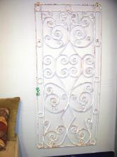 High Quality Antique Wrought Iron French or Spanish Style Decorative Panel *Shipping & Shipping Insurance Incl. in Price of Iitem.....