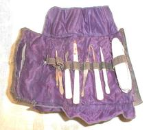 1920's CELLULOID Manicure Set Cloth Lining