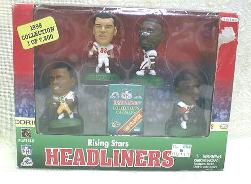 NFL Rising Stars HEADLINERS Football Figures