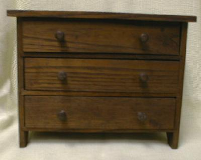 Salesman's Sample Dresser/Bureau 1905 CONVERSE 3 Drawer Wood - OLD!