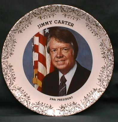 President CARTER Collector Plate - Old Souvenir