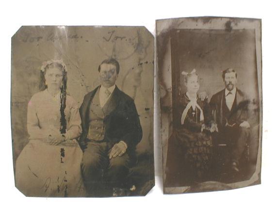 Old Tintypes Photos (2) Interesting Information