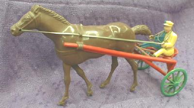 Wolverine Sulky Horse Racing ANTIQUE Windup Toy
