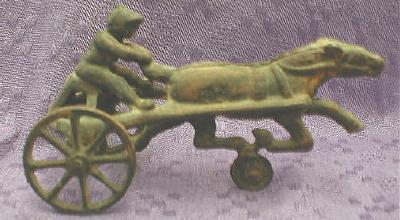 Cast Iron SULKY w/ Driver - Racing - ANTIQUE