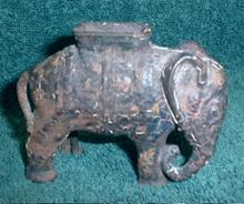 Elephant Still Bank Cast Iron - Antique