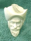 MEERSHAUM Pipe Musketeer Man with Face - OLD