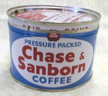 OLD Coffee Can CHASE & SANBORN 1# Tin
