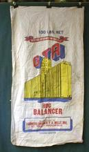 Cloth Feed Sack GTA Hog Balancer COLORFUL -  Old!