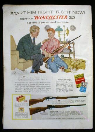 American Rifleman Magazine WINCHESTER 22  - OLD