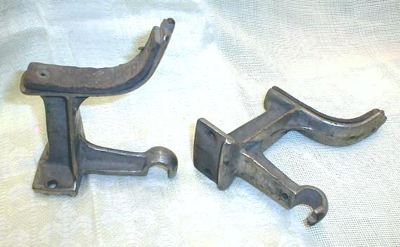 FIRE Truck Engine OLD Nickel Brackets 1920's