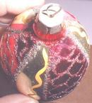 Glass Christmas Ornament OLD! Teardrop Shaped