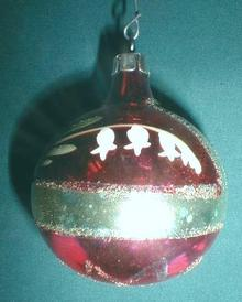 Old Glass Christmas Ornament Lily of Valley