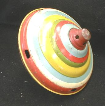 CHEIN Spinning Top OLD!  Tin Toy  Circus Figures