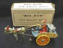 MARX Balky Mule Hee Haw w/  Box 1920s VERY OLD!