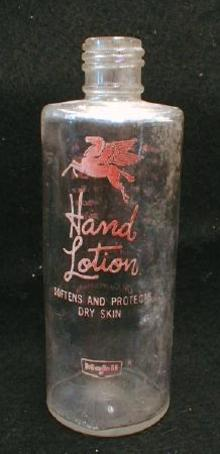 Mobil Oil Co. Hand Lotion Bottle - Old RARE