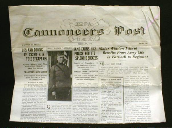 WWI Era CANNONEERS POST Newspaper 1919 France