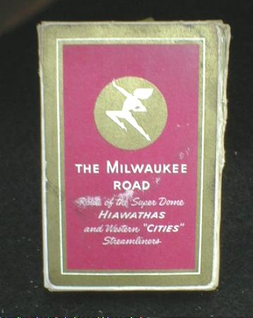 Old MILWAUKEE ROAD Playing Cards Box