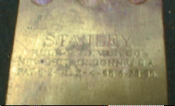 1896 STANLEY  Brass & Wood Level
