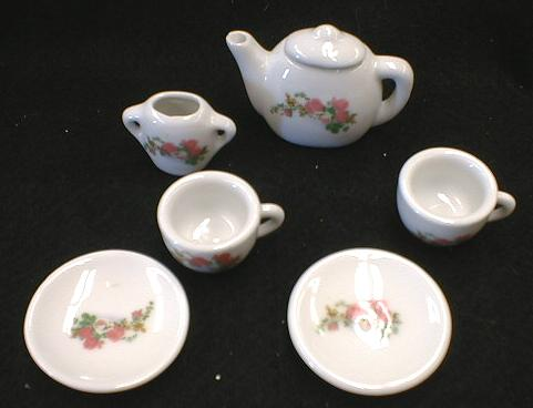 Toy Tea Set Child's/ Doll's China Roses