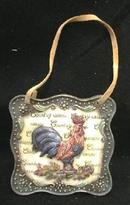 ROOSTER Wall Plaque New w/ Leather Strap