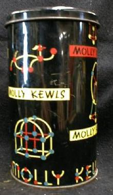 MOLLY KEWLS Toy in Tin Canister - OLD Vintage