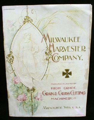 Milwaukee Grain Harvester Norwegian 100 yr old Brochure