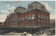 Railroad Union Depot Chicago, Illinois Post Card